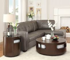 Furniture Round Coffee Table Sets Ideas Brown Modern Wood Round - Complete living room sets