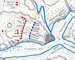 Map Of France And England by Battle Of Quebec 1759