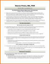 resume objective sle hrst resume sle resumes sles velvet human resources pdf