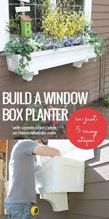 Beautiful Window Boxes Remodelaholic How To Build A Window Box Planter In 5 Steps