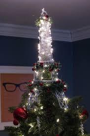 tree topper ideas shimmering eiffel tower