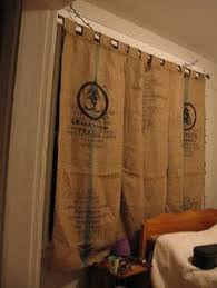 Burlap Looking Curtains Upcycled Burlap Coffee Bean Bag Curtains Rehabulous