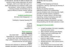 projects idea hotel resume 10 hospitality cv templates free
