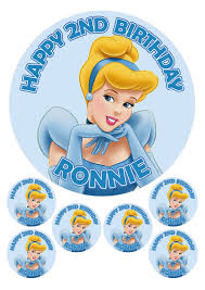 cinderella cupcake toppers personalised cinderella 7 5 6 x 2 edible toppers