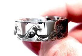 custom wedding rings wave ring ring custom wedding ring mens wedding band
