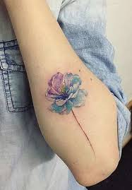 image result for tiny watercolor flower tattoo ideas