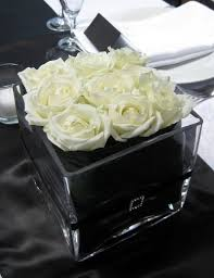 White Roses Centerpiece by 349 Best Black U0026 White Wedding Flowers Images On Pinterest