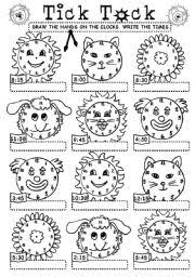 english teaching worksheets the hours