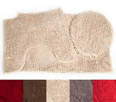 Microfiber Chenille Bath Rug 3 Piece Bathroom Rug Sets Walmart Com Only At Better Homes And