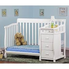 Mini Convertible Cribs On Me 4 In 1 Mini Convertible Crib And Changer In