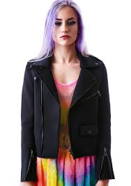 moto jacket unif neoprene moto jacket dolls kill