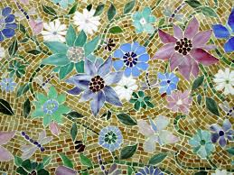 floral mosaic kitchen backsplash designer glass mosaics designer