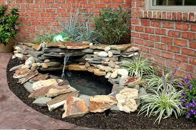 enticing diy backyard landscaping idea with custom pond feat