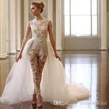wedding dress jumpsuit ines di santo lace jumpsuit wedding dresses 2017 two in one