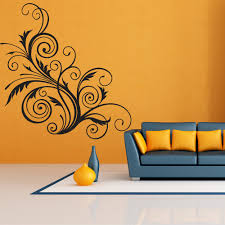 floral swirl gothic vines floral design wall stickers home decor