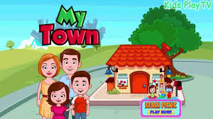 my town home game house room app for kids youtube