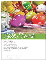 Easter Brunch Buffet Menu by Easter Brunch Eagle Brook Country Club Sunday April 16 2017
