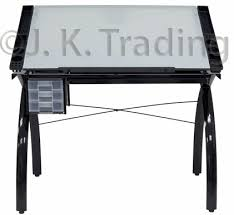 glass drafting table or drawing table modern design