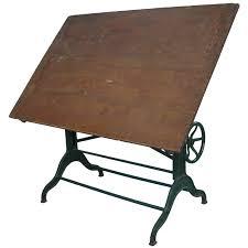 Dietzgen Drafting Table Antique Industrial Cast Iron Adjustable Drafting Table By Dietzgen