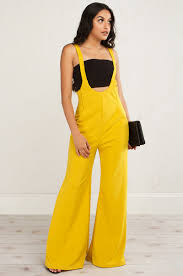 overall jumpsuit overall wide leg jumpsuit in mustard burgundy black