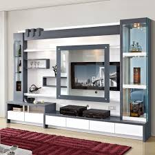 Wall Units Living Room Furniture Living Room Furniture Wood Lcd Tv Wall Unit Design View Lcd Wall