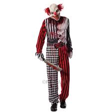 horrifying halloween costumes new mens clown it jester horror scary halloween circus kids fancy