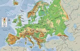 map of earope physical maps of europe free printable maps