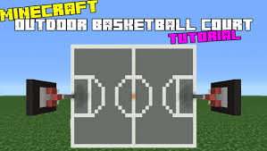 minecraft tutorial how to make an outdoor basketball court youtube