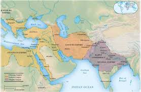 Mongol Empire Map Ottoman Safavid Mughal Empires Jpg
