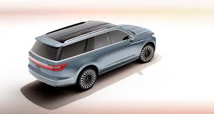 lincoln navigator back lincoln to showcase navigator concept suv at los angeles auto show