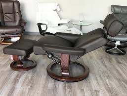 Brown Leather Recliner Chairs Taurus Paloma Mocca Leather Recliner Chair And Ottoman By Ekornes