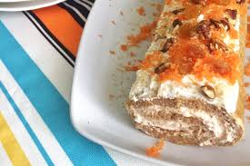 carrot cake roll saludable