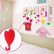 adhesive wall hooks colorful love heart adhesive wall hooks momeaz