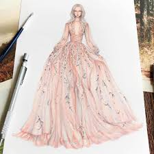 fashion designer fashion designer illustrates gorgeous gowns in enchanting detail