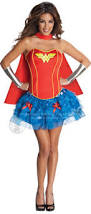 Wonder Woman Costume Wonder Woman Corset Fancy Dress Ladies Superhero Womens