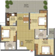 Flooring Plans by Floor Plan Of Gaur City 7th Avenue Tower