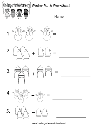 Worksheets For Math Winter Math Worksheet Free Kindergarten Seasonal Worksheet For Kids