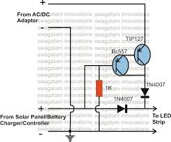 solar battery charger ac dc adapter changeover relay circuit