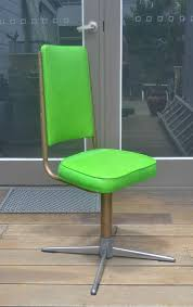 vintage retro mid century namco green swivel chair kitchen chair