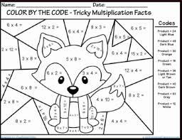 Multiplication Free Worksheets Color Math Worksheets Website Inspiration Multiplication Facts