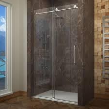 delta 48 in sliding shower door glass panels in mozaic 1 pair