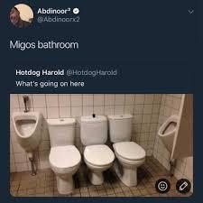 Bathroom Meme - dopl3r com memes abdinoor2 q abdinoorx2 migos bathroom hotdog