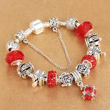 bead bracelet european images Spinner european style vintage silver plated crystal charm jpg