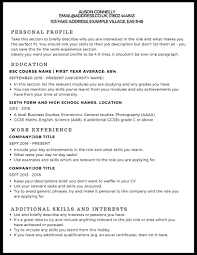 exle of personal resume cv exle studentjob uk