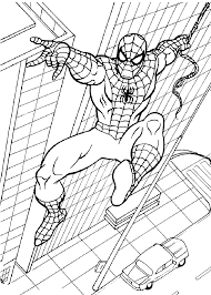 spider man in city coloring pages for kids printable free