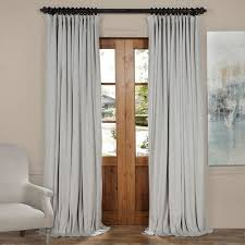 Easy Blackout Curtains Reflection Gray 84 X 100 Inch Doublewide Blackout Velvet Curtain