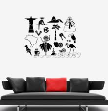 online get cheap carnival wall decals aliexpress com alibaba group latin america symbol wall stickers brazil carnival wall sticker vinyl removable wall decal waterproof design mural
