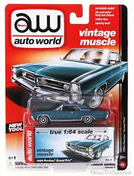 1964 pontiac grand prix aqua auto world aw64032b 1 64 scale