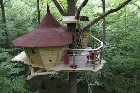 adorable cool tree houses with small furniture design with gnome