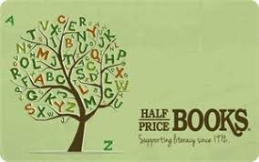 half price gift cards half price books gift card 5 bonus card with every 25 gift card